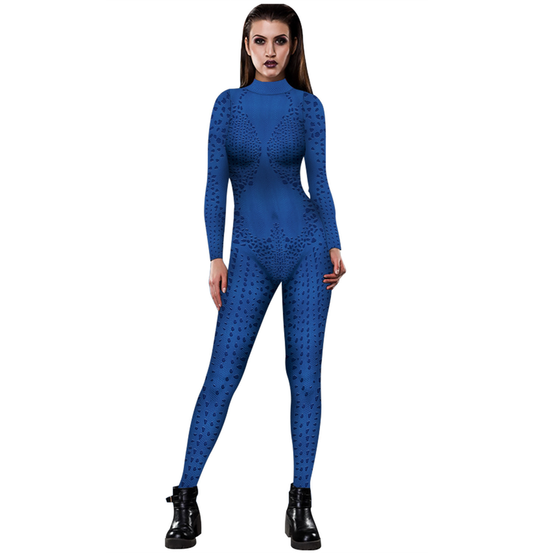 Anime 3D digital printing women's bodysuit fashion personality sports trendy women's game role-playing body tights