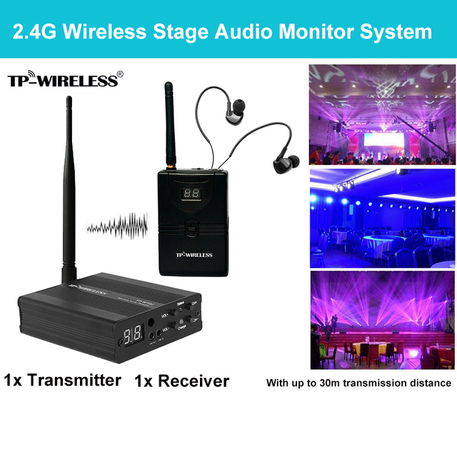 TP wireless In Ear Monitor System 2.4GHz Professional Digital Stage Audio Stage music Ear Return Stage