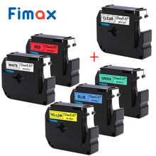 Fimax 6 Pcs M-K231 MK231 MK131 MK631 MK431 MK531 for Brother P-touch M Type Label Tape M-K231 12mm for Brother Label Printer label m текстурирующий воск 40 мл