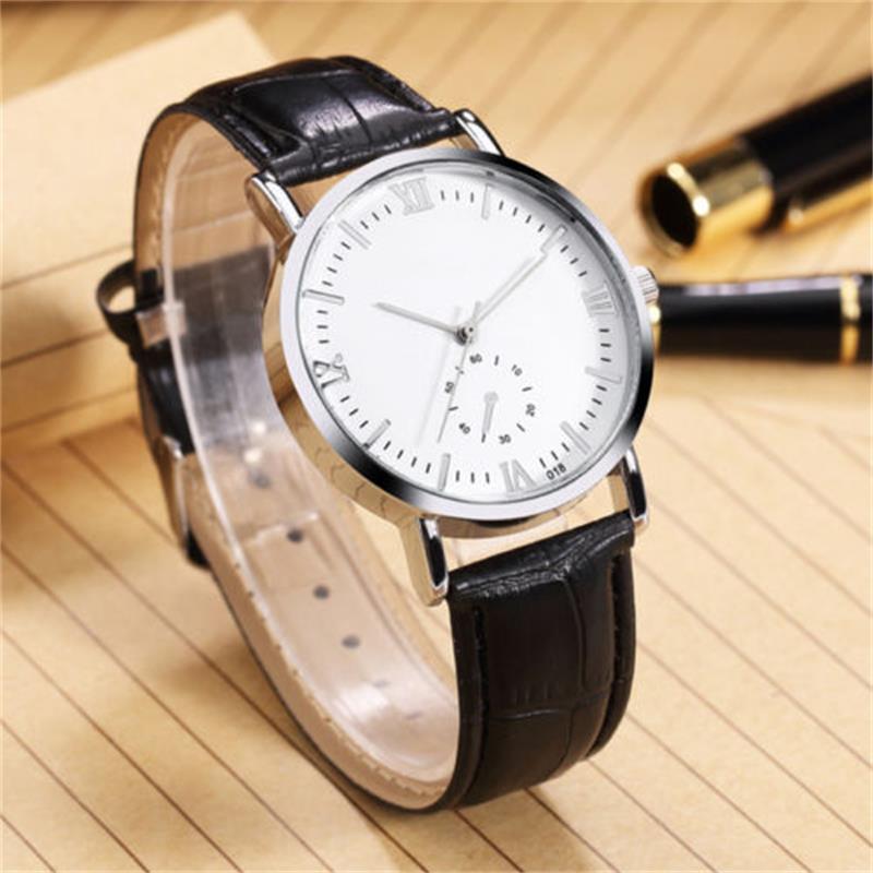 Fashion Men Watches Luxury Ultra Slim Quartz Watch Men Business Leather Watch