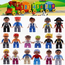 Duplo City Family Action Figures Character Leoging Duplo Leoging Duploe Figure Building Blocks Toys for Children With Legoings(China)