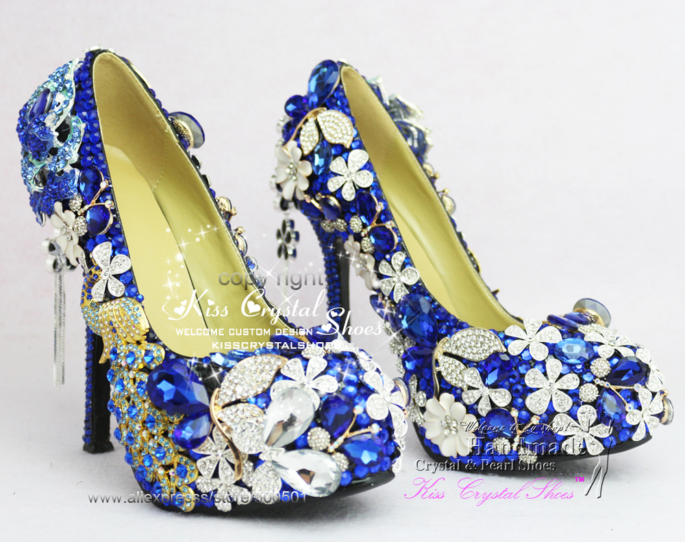 Royal Blue Wedding Shoes New Customized Amazing Blue wedding pumps high  heel blue dress shoes for bridal-in Women s Pumps from Shoes on  Aliexpress.com ... 9eb54d4a5bab