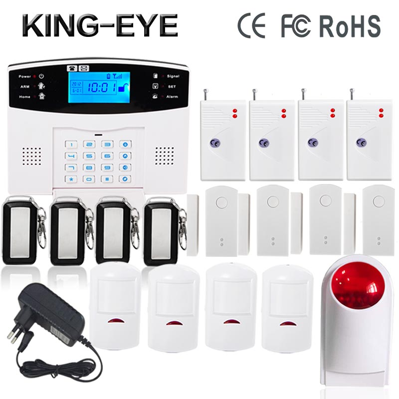 Spanish French Russian Italian voice Wireless GSM Alarm system Home security alarm systems glass vibration sensor door alarm dual network russian spanish french wireless gsm pstn alarm system home security alarm systems with lcd keyboard without battery