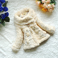 Girl Coat Children Outerwear Baby Girl Fashion Spring Autumn Lace Jackets Warm Coat Kids Floral Winter