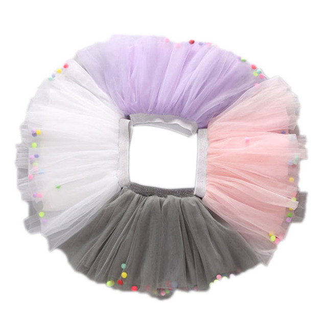 2016 Summer Korean Style Fashion Fluffy Chiffon Pettiskirts tutu Baby Girls Skirts Princess skirt Dance Wear Party Clothes 2-7Y