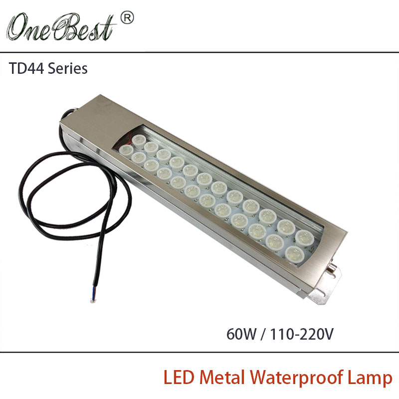 HNTD 60W 110-220V TD44 Led Metal Panel Light CNC Machine Tool Waterproof Explosion-proof Led Spotlight Work Lamp Free shipping