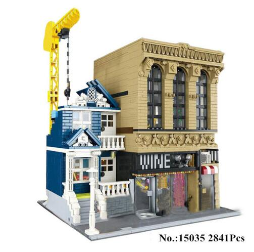 2841Pcs Creative MOC The Bars and Financial Companies Set Children Building Blocks Bricks Toys Model Compatible With Legoings
