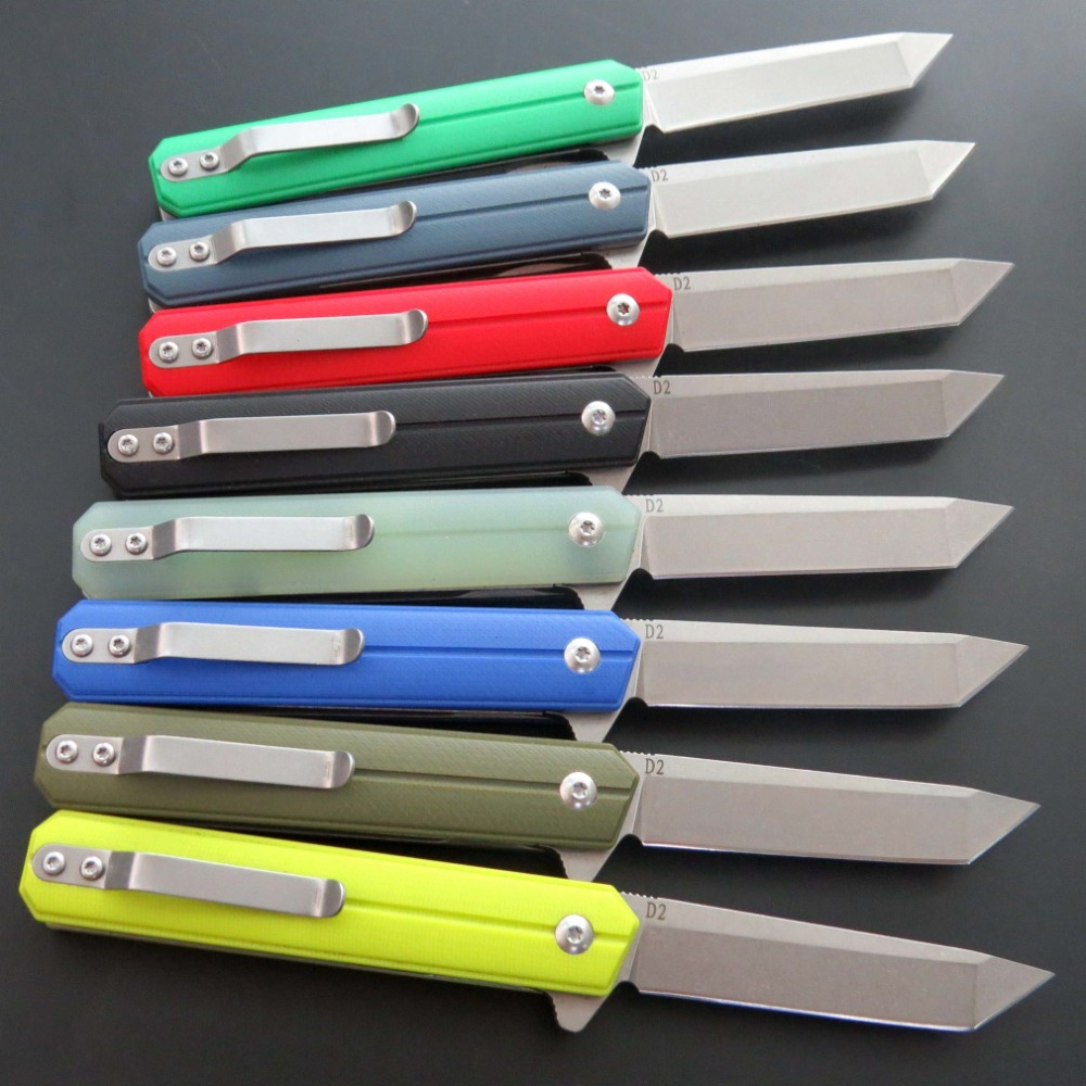 High quality EF65 knife D2 Steel blade G10 handle ball bearing folding knife outdoor hunting camping Dagger knife EDC Tool in Knives from Tools