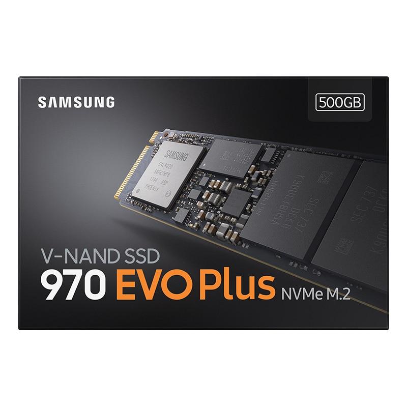 Samsung SSD 970 EVO Plus 500 GB NVMe M.2 2280 NVMe disque dur SSD interne SSD SSD PCIe 3.0x4, ordinateur portable NVMe 1.3