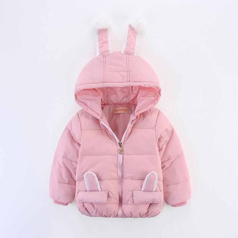 winter baby girls coats padded White Duck Down jacket girl infant outerwear girls wadded coat brand down coat cartoon rabbit new 2016 baby down coats set baby down jacket suspenders girl