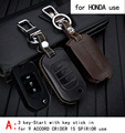 Genuine Leather CAR KEY CASE For HONDA 9ACCORD CRIDER 15SPIRIOR JADE FIT CR-V Use Automobile Special-purpose CAR KEY HOLDER