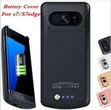 S7 Батареи Case Зарядное Устройство Для Samsung Galaxy S7 Edge Case Power Bank Зарядки Тонкий Тонкий Зарядное Устройство Крышка Внешняя Батарея Резервного Копирования дополнительные