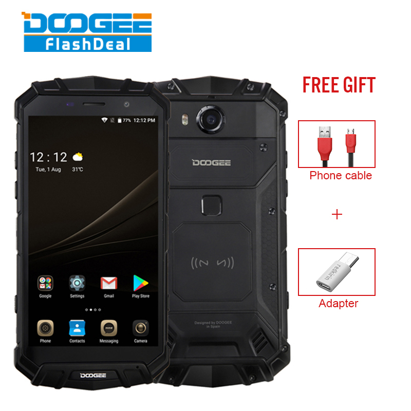 Ursprüngliche DOOGEE S60 Lite 5,2 Zoll IP68 NFC Wireless Charging 5580 mAh 4 GB RAM 32 GB ROM MT6750T 4G Smartphone