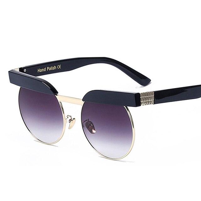 b48d8f7a0aca78 Coucou 2018 lunettes de soleil de mode marque femme clair rétro vintage  ronde miroir lunettes de