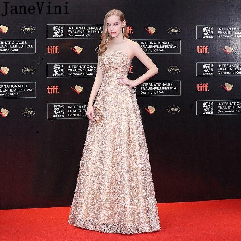 c059ecd3e5 Cheap JaneVini boda vestido de fiesta 2019 largo de encaje de dama de honor  vestidos de