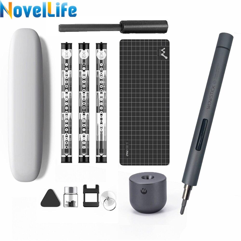Tournevis Wowstick électrique sans fil 1F Pro, Mini, Rechargeable, à piles au Lithium lumière LED, Kit de tournevis