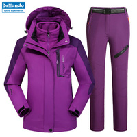 Outdoor Moutain Women Waterproof Skiing Ski wear jacket Suits Snowboard jacket Ski suit Large Size Snow jackets Plus Size
