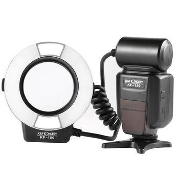 K & F Concept Macro Ring Light Flash, K & F Concept Kf-150 Ttl Speedlite ЖК-дисплей и беспроводная функция Slave с 6 шт. адаптером