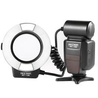 K&F Concept Macro Ring Light Flash,K&F Concept Kf 150 Ttl Speedlite Lcd Display And Wireless Slave Function With 6Pcs Adapter
