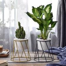 лучшая цена Ceramic Pot Flower Style Desktop  Planter Pot Home Decor Garden  White Potted Plant Artificial Flower Decoration