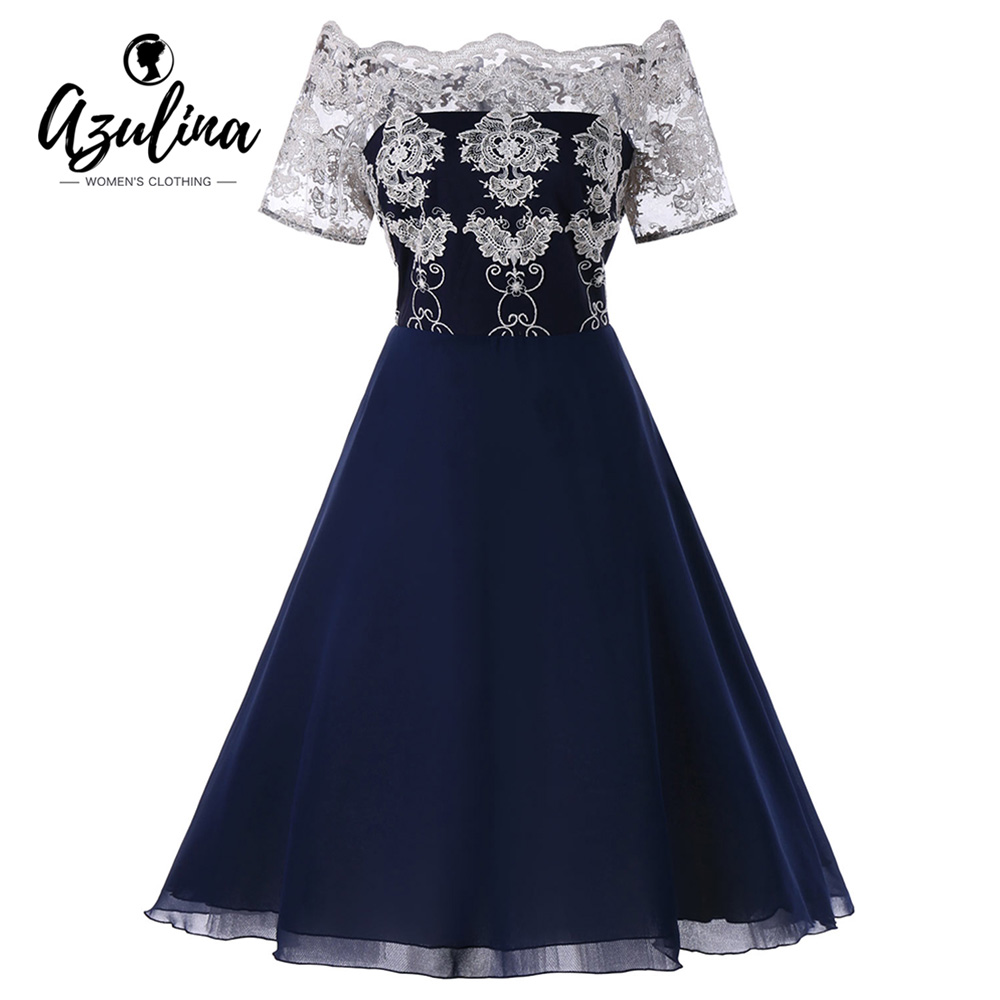 f0c545f6fe8 AZULINA-Plus-Size-Lace-Panel-Dress-Women-Vintage-Party-Dress-Off-Shoulder -Short-Sleeves-Robes-2018.jpg