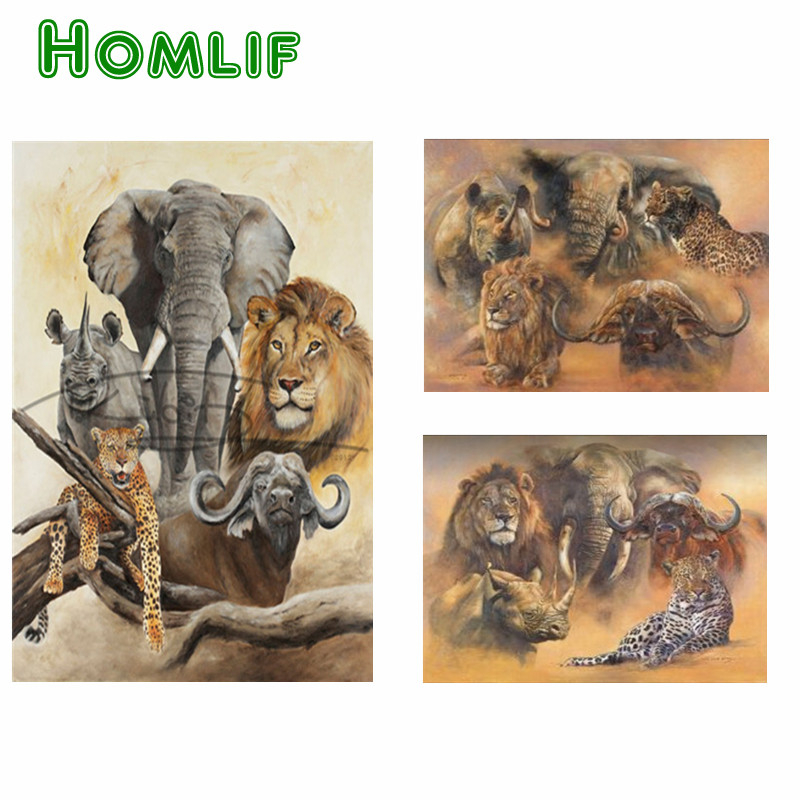 Wildlife Christmas Cards.Us 6 39 49 Off 5d Diy Custom Diamond Painting Kerstkaart Animal Tiger Lion Diamond Painting Christmas Cards Full Square Eigen Foto Kerstkaarten In