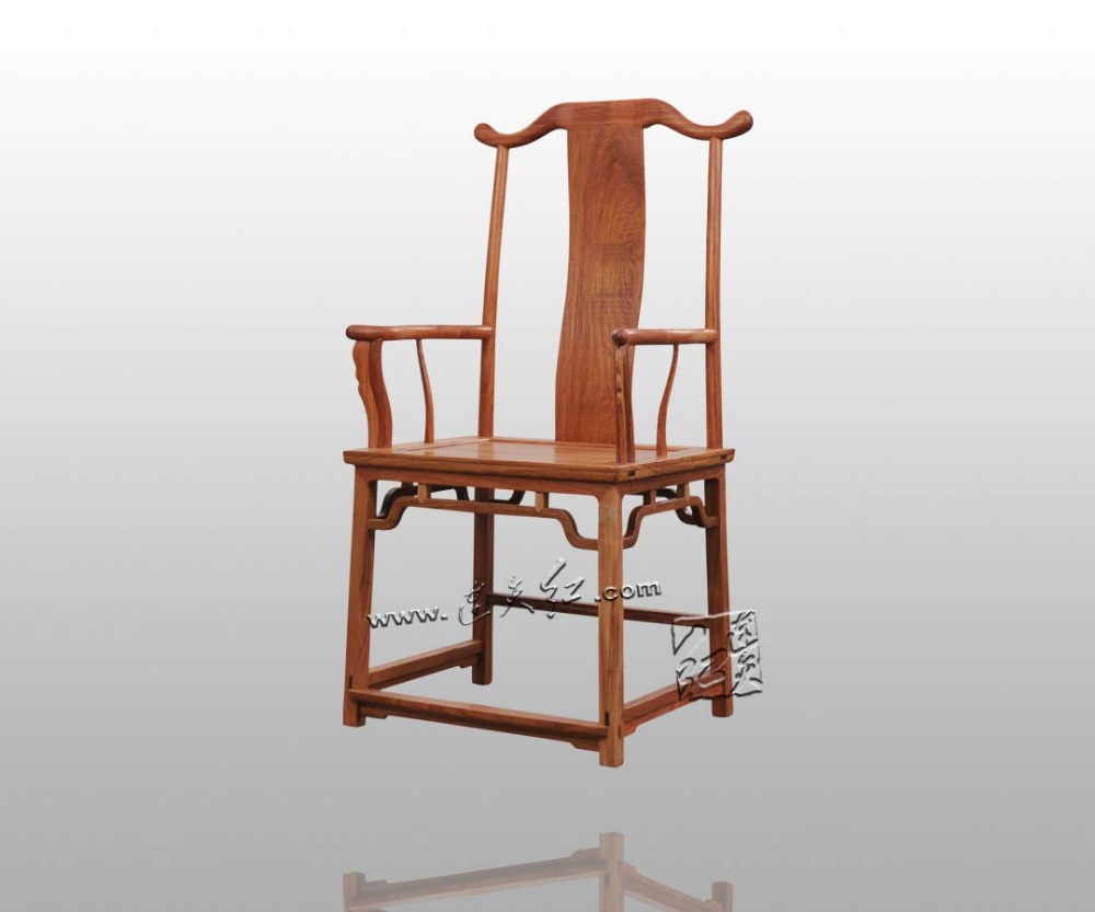 Chinese Ming Dynasty Fourniture Four government-owned cap Chair Rustic Style Rosewood Fitment Outlet Traditional Wood Armchair david gichoya government informatics