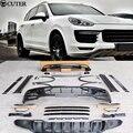 Комплект для кузова автомобиля FRP GTS  комплект для переднего бампера  заднего бампера  боковых юбок  колеса  бровей  выхлопные трубы для Porsche ...