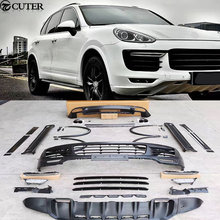 FRP GTS style Car body kit front bumper rear bumper side skirts Wheel eyebrows exhaust pipes for Porsche Cayenne GTS 15-17