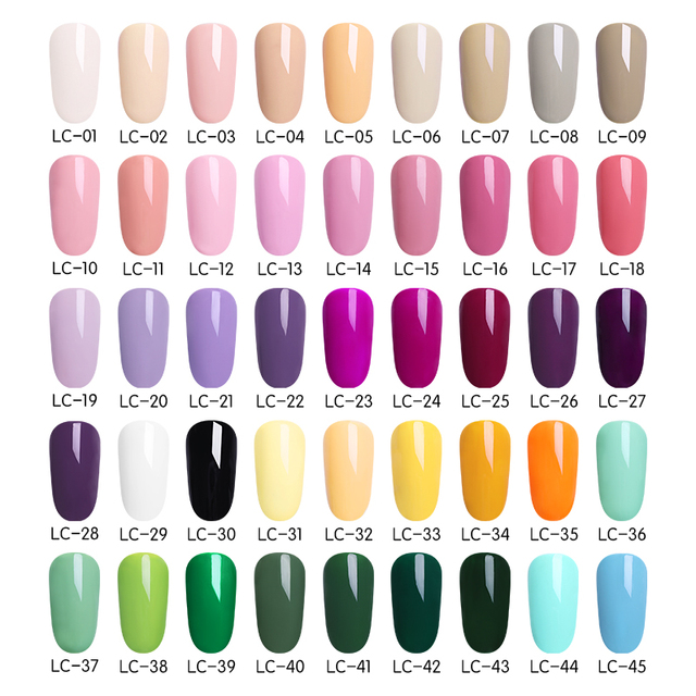 LILYCUTE Nail Art Gel 5ML Pure Color UV LED Gel Nail Polish Long-lasting Macaron Soak off Varnish Gel Lacquer 1