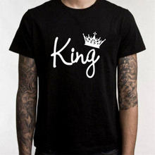 e9db5d8f81 Top Design Couple T-Shirt King And Queen Love Matching Shirts Summer Tee  Tops Family Clothes
