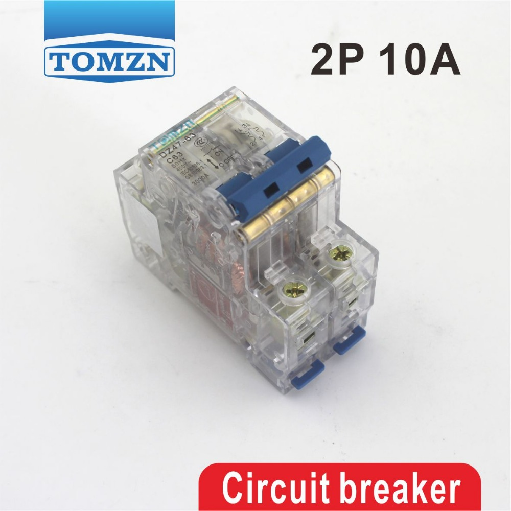 2p 10a Transparent Case Mini Circuit Breaker Mcb Dp A299 House China High Quality