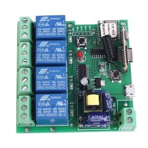 Image 3 - 220V 4 Kanaals Wifi Relais Module Telefoon APP Draadloze Afstandsbediening WIFI Schakelaar Jog Self Lock Interlock + 433M Afstandsbediening