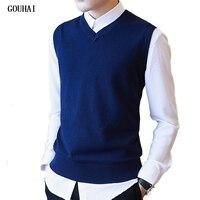 M 3XL Sweater Men Autumn Autumn Sweater Vest Men V Neck 100 Cotton Mens Vest Sweaters