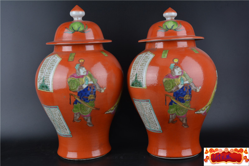 antique QingDynasty porcelain bottle,pastel glaze,Character story,A PAIR,Hand-painted crafts,Decoration,collection &Adornment
