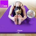Коврик для йоги из бутадиен-нитрильного каучука 185*80 см 15 мм Толщина Тонкие коврики для йоги нескользящие безвкусные фитнес Esterilla Пилатес до...