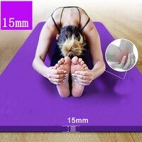 NBR Yoga Mat 185*80cm 15mm Thickness Slim Yoga Mats Non slip Tasteless Fitness Esterilla Pilates Home Exercises Gym Sport Pad