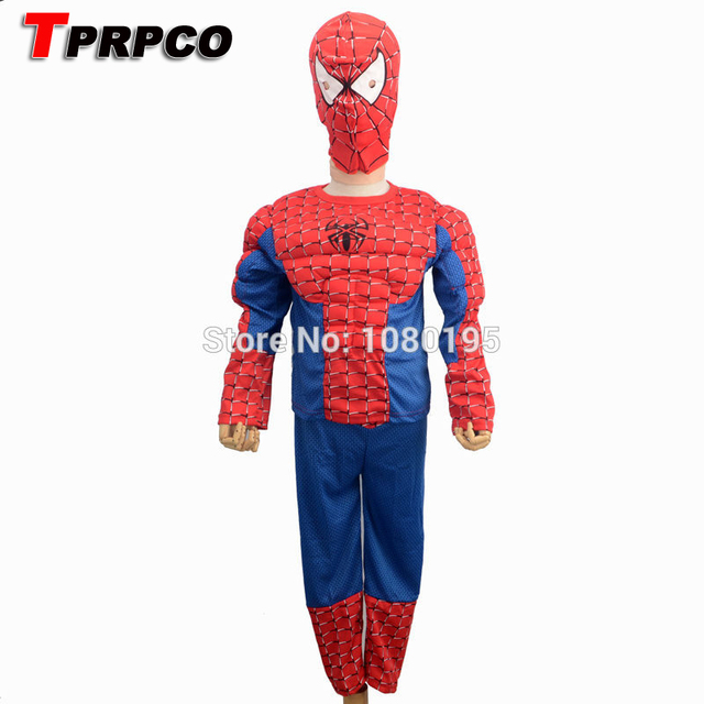 tprpco s xxl muscle spiderman costume children kid boy girl halloween costume the spider man