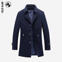 Brand Winter Woolen Overcoat For Men Fashion Medium Long Casual Coats Men S Windbreaker Plus Size