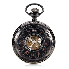 wind up watch for men online shopping the world largest wind up h107 black color vintage classical delicacy carved case hand wind up 17 crystals mechanical pocket watch