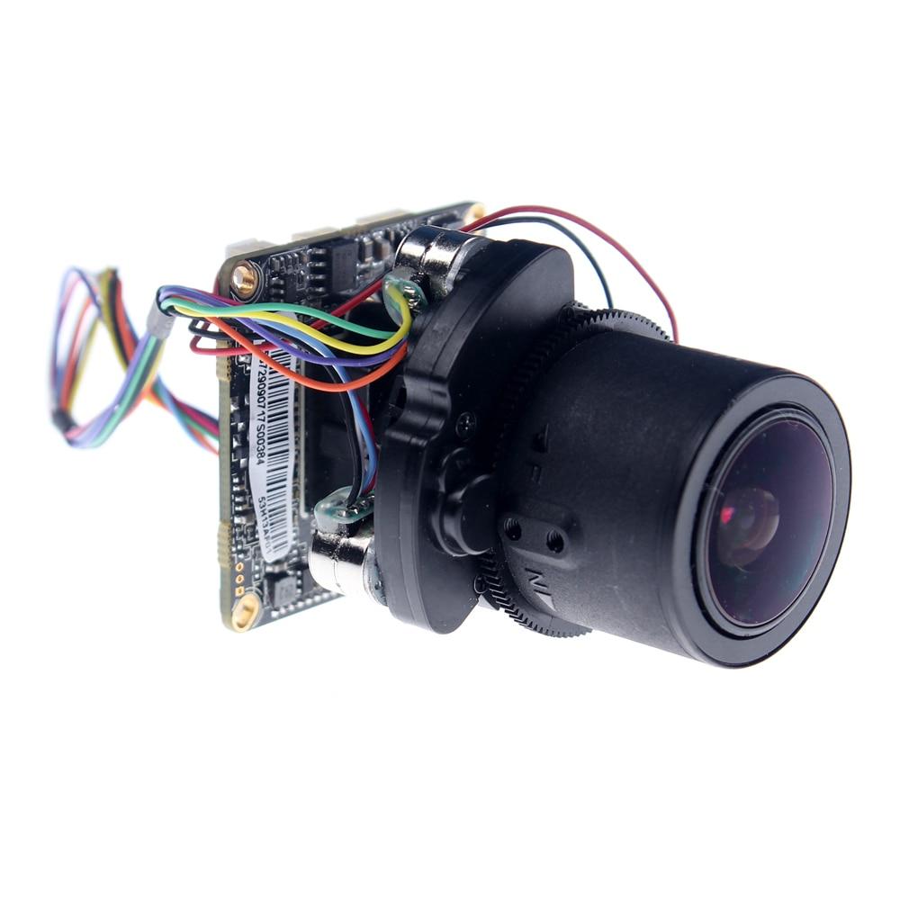 2MP IPC 1080P 960P 720P 2.8-12mm Motorized Zoom Auto Focal LEN 1/2.8 IMX322 CMOS + Hi3516C CCTV IP camera module board