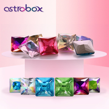 Non-acrylic Sew In Crystal Glass Square Right Angle Stones for clothing Decoration Loose Rhinestones sew On Base Garment