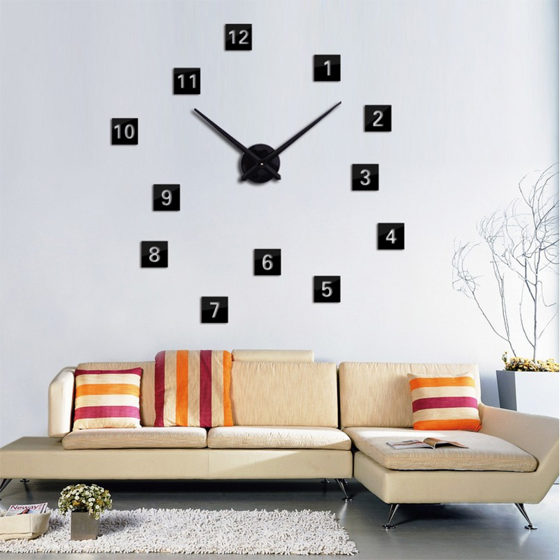 2017 hot sale 3d large wall clock diy reloj de pared modern design horloge mu - Horloge murale decorative ...