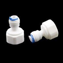 5 pces 1/2 Polegada rosca fêmea para 6mm deslizamento bloqueio rápido conector 1/4 Polegada válvula conjunta butt tubulação pneumática conector jardim suprimentos