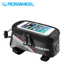 ROSWHEEL cycling mountain bike saddle 5.5 inch GPS touch screen mobile phone package bag bicycle parts
