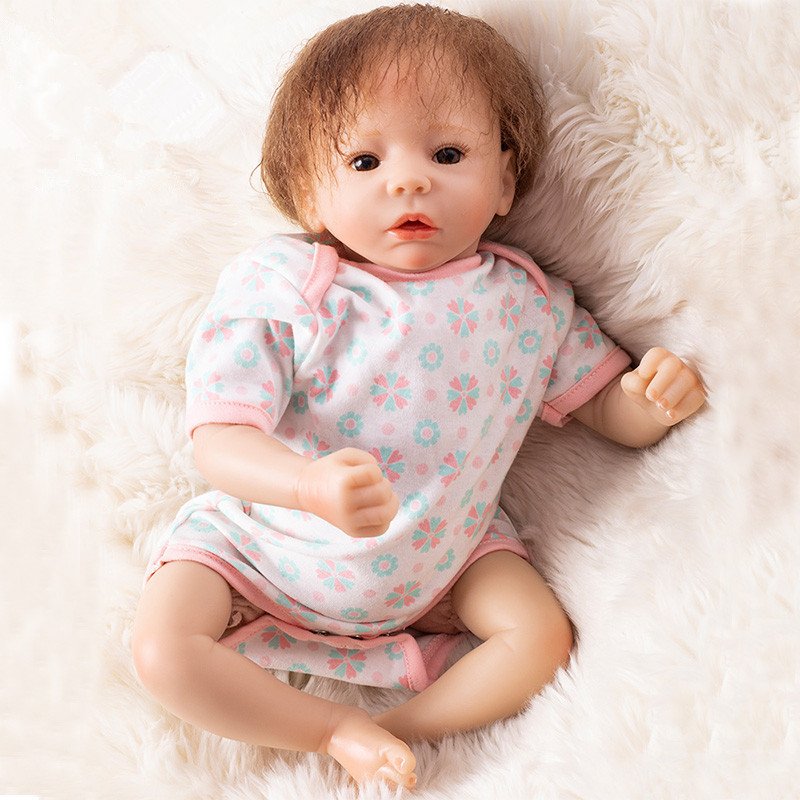 New Kawaii Bebe Reborn Dolls 20inch Silicone Baby Doll 48cm Reborn Dolls Babies Playmate Gift for Girls Toys 10 Years Girls Doll цена