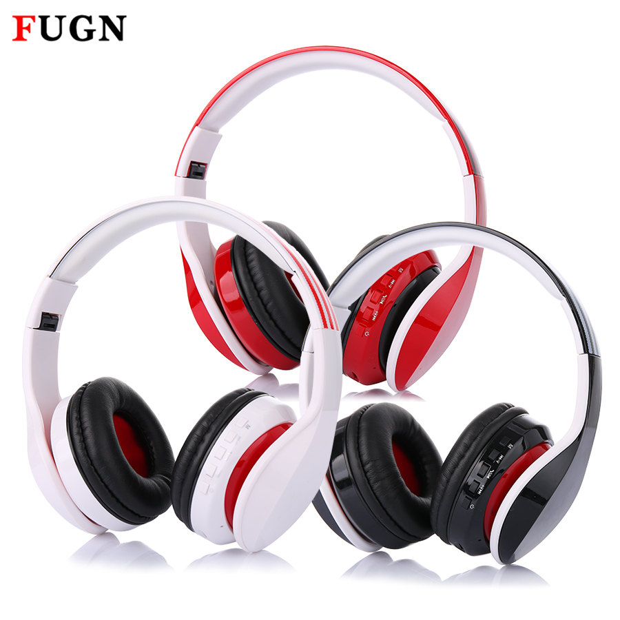 FUGN Bluetooth Headset Over-Ear Wireless Earphone Headphones Foldable Handsfree with Mic V4.1 SD Card Earpiece for Phone Gaming a01 bluetooth headset v4 1 wireless headphones noise cancelling with mic handsfree earpiece for driving ios android