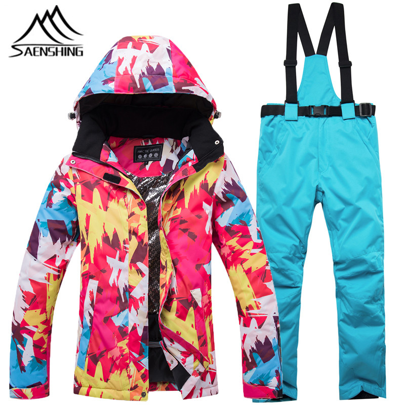 Ski Suit Female Jacket Snowboard Pants Windproof Super Warm Mountain Winter Skiing Suit Snowboarding Suits Windproof new ski suit women s winter outdoor waterproof windproof warm thick ski suit jacket pants snowboarding skiing suits sportswear