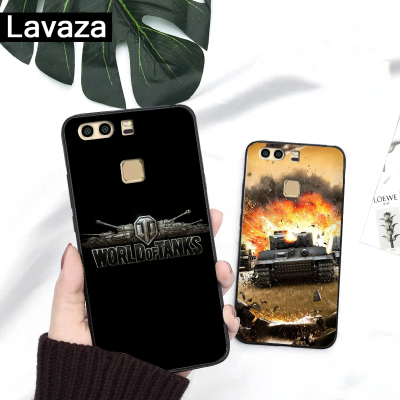 Lavaza world of tanks Silicone Case for Huawei P8 Lite 2015 2017 P9 2016 Mini P10 P20 Pro P Smart 2019 P30 in Fitted Cases from Cellphones Telecommunications