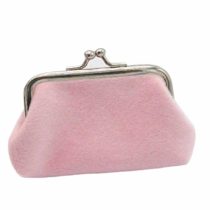 ミニコイン財布女性コーデュロイ財布天然金属フレーム小変更財布クラッチマネーバッグ # LR1